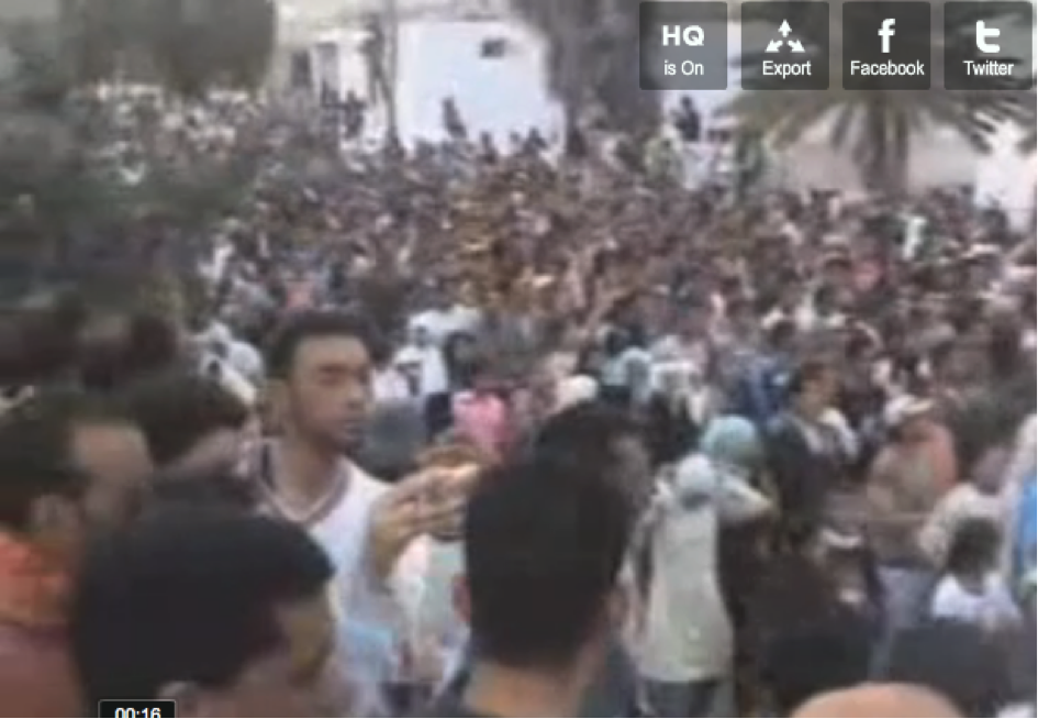 Manifestation à Rdayef